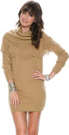 SWELL FRANKIE FRINGE TOP SWEATER DRESS Image