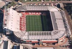 Old Trafford - North Stand being constructed, 1996.