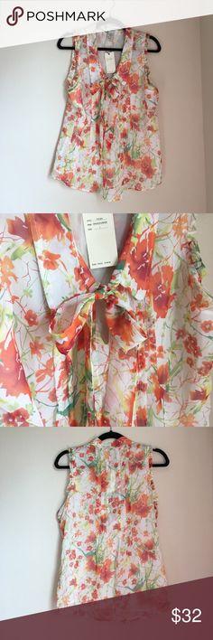 Vertigo Pintuck Sleeveless Top Reposh, never worn by me. NWT. Vertigo Paris Tops Blouses