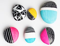 DIY Painted Rock Magnets #diy #crafts