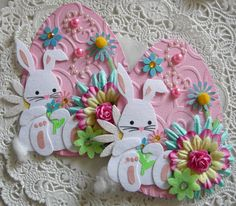 Easter Bunny Egg Embellishments by sarasscrappin on Etsy