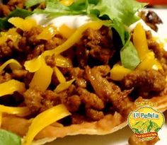 food, mexican cheese tostada