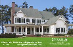 Belle Crest House Plan 01288, Front Elevation, Farmhouse Style House Plans, Covered Porch House Plans