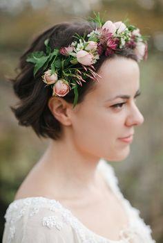 Bridal Flower Crown with Jasmine // by The Nouveau Romantics