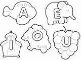 cartaz das vogais com lwtra bastao em eva com molde - Search