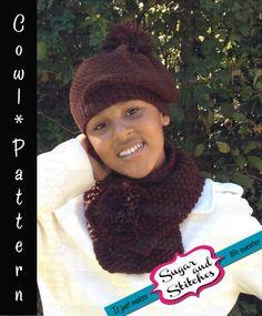 KNITTING PATTERN  Rêve de Chocolat  by THESugarandStitches on Etsy, $4.99 #knit #knitpattern #pattern #knit #cowl