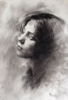 Supreme Portrait Drawing with Charcoal Ideas. Prodigious Portrait Drawing with Charcoal Ideas. Portrait Sketches, Pencil Portrait, Portrait Art, Charcoal Sketch, Charcoal Art, Charcoal Drawings, Life Drawing, Drawing Sketches, Painting & Drawing