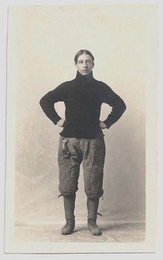 Old Photo Postcard Man Football Player Marsh by girlcatdesign, $24.99