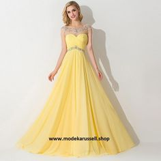 Gelbes Abendkleid Rejane