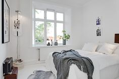 my scandinavian home: Black, white and cognac in a Swedish apartment