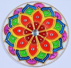 Manzanares el Real Mandala Art, Mandala Design, Mandalas Painting, Mandala Drawing, Dot Art Painting, Ceramic Painting, Recycled Cds, Flower Art Drawing, Paper Quilling Jewelry