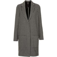 TOPSHOP Dogtooth Jersey Coat ($39) ❤ liked on Polyvore featuring outerwear, coats, jackets, topshop, jade, grey, checked coat, checkered coat, jersey coat and grey coat