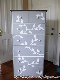 Feb 2020 - 21 Beautiful Ways To Refurnish Your Old Dresser- Give your old dresser a whole new life with these fabulous diy upcycles. Your old furniture will look good as new in no time. Old Furniture, Furniture Makeover, Painted Furniture, Furniture Refinishing, Refurbished Furniture, Repurposed Furniture, Chair Makeover, Furniture Ideas, Dresser Repurposed