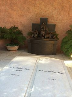 Grave Markers- Bob and Dolores Hope at the San Fernando Mission