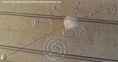 Crop Circle at Roundway Hill, Nr Devizes, Wiltshire, United Kingdom. Reported 30th July  2014