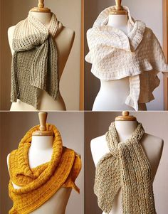 Knitted scarves are my winter fashion go to's.