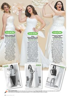 This year's Wedding Dress Challenge participants look AMAZING! Thanks @Rebecca Kahler sunshine's Gym!