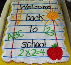 Back to school cupcake cake