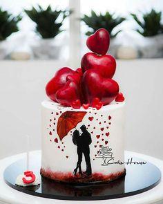 No photo description available. Anniversary Cake Designs, Happy Anniversary Cakes, Wedding Anniversary, Marriage Anniversary, Beautiful Wedding Cakes, Beautiful Cakes, Amazing Cakes, Cake Wedding, Fondant Cakes