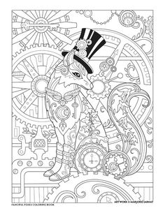 The Collection Of Steampunk Images For Coloring Pages 684 steampunk free clipart 4 Steampunk Coloring Pages. Steampunk is an art concept including the theme of science fiction and divided of fiction and fantasy. The main setting plac. Fox Coloring Page, Cute Coloring Pages, Animal Coloring Pages, Coloring Sheets, Coloring Books, Fairy Coloring, Mandala Halloween, Art Plastic, Steampunk Images