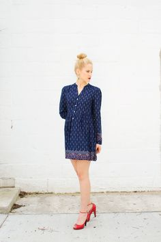 Styled   A Little Blue Dress #style #fashion #ootd