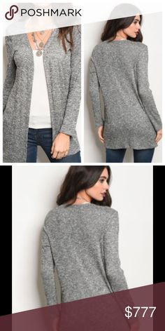 🆕JUST ARRIVED! GRAY CARDIGAN Fabric Content: 60% Polyester💠35% Rayon💠5% Spandex Sweaters Cardigans