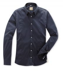 Q1  Premiumhemd STEPHAN in Dunkelblau in Superior Stretch Denim Button Up, Button Up Shirts, Slim Fit, Shirt Dress, Mens Tops, Shopping, Dresses, Fashion, Fall Winter