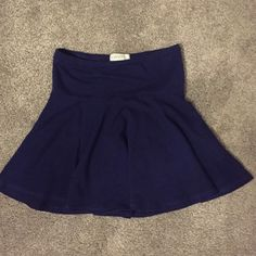 Forever 21 skater skirt Comfortable cotton navy blue skater skirt from forever 21. I am 5'4 and it hits me mid thigh. Forever 21 Skirts Mini