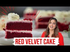 Kikis saftigster Red Velvet Cake aus den USA - feuchter Rührkuchen mit leckerer Creamcheese-Füllung - YouTube Red Velvet Cake, Cream Cheese Filling, Sponge Cake, Pasta, Desserts, Videos, Kitchen, Cake, Proper Tasty