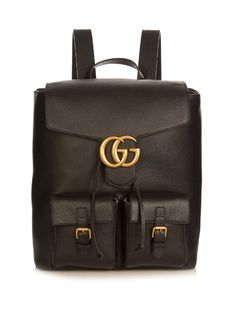 cbf9f2a19a48 Refresh your accessories portfolio with this black Gucci Running backpack.  Metallic Bag, Gucci Men