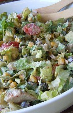 Chipotle Chicken Taco Salad~