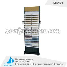 high quality metal marble display folder