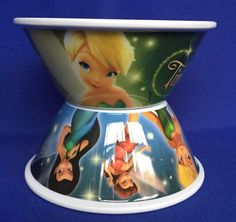 2 New Large Tinkerbell Bowls Fairies Melamine Walt Disney Kelloggs #KelloggCompany #Cereal