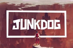 Junkdog is a blocky font with an attitude! It's great for big titles and quotes. By Tugcu Design Co.