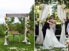 Real Weddings: Suzanne + John | Wedding ceremony arch, Ceremony ...