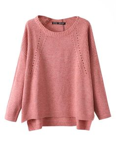 Pure Color Vintage Pullover Sweater