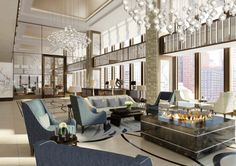 double height hotel lobby with skylight - Google Search