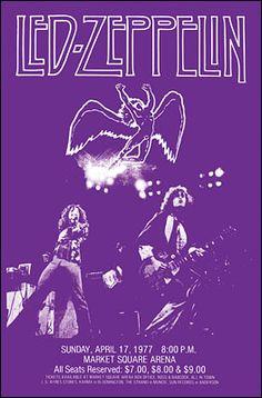Led Zeppelin - Market Square Arena - April 17th 1977 - Concert Poster