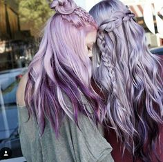 Get your dyeable human hair extensions now. 28 days ret… Get your dyeable human hair extensions now. Light Purple Hair, Light Blonde Hair, Lilac Hair, Hair Color Purple, Hair Color Shades, Blonde Color, Cool Hair Color, Violet Hair, Natural Hair Styles