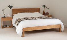 Wooden Bed Frame Diy, Modern Wooden Bed, Vintage Bed Frame, Solid Wood Bed Frame, Wooden Beds, Wood Bed Design, Bedroom Bed Design, Bedroom Furniture Design, Solid Oak Beds