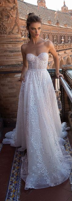Wedding dress tulle with delicate detailing