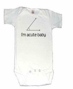 Acute baby, math onesie, nerd onesie, pun, math joke, new mom gift, geometry, teacher present, birth announcement