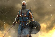Old work for an encyclopedia ilustration, make it in Zbrush, render in MAX, Vray, no compo in PS Medieval Knight, Medieval Armor, Medieval Fantasy, Roman History, Art History, Byzantine Army, Persian Warrior, Armadura Medieval, Medieval Times