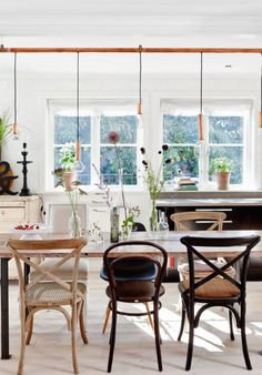 Love all the different dining room chairs. House Envy: Swedish Cottage - lark&linenlark&linen