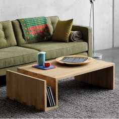 Oak Naomi Coffee Table with the N101 Sofa by Ethnicraft
