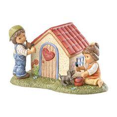 Goebel Nina & Marco - Im Urlaub Spardose, Wir bauen uns ein Haus 11 cm