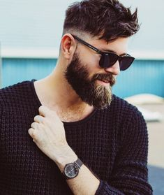 Best full beard styles for men. Know everything about growing full beards naturally, trimming and grooming tips, and more full grown beard inspirations! Beard Styles For Men, Hair And Beard Styles, Long Hair Styles, Beards And Hair, Mens Hairstyles With Beard, Haircuts For Men, Hipster Hairstyles Men, Cool Hairstyles For Men, Bart Styles