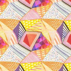 Ana Montiel's colourful triangular patterns and designs.   http://obus.com.au/
