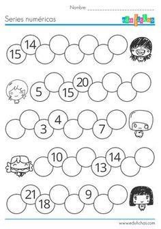 Del 1 al 100 Counting Activities, Infant Activities, Math Games, Kindergarten Math Worksheets, Teaching Math, Preschool Activities, Math Numbers, Writing Numbers, Primary Maths
