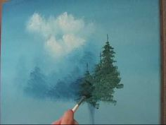 trendy evergreen tree drawing how to paint Canvas Painting Tutorials, Acrylic Painting Techniques, Painting Videos, Painting & Drawing, Knife Painting, Painting Canvas, Bob Ross Paintings, Tree Paintings, Watercolor Trees